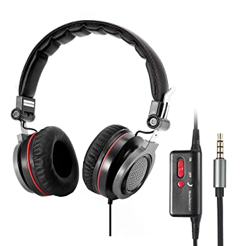 Activa conambo inalámbrico Heaphones, con cancelación de ruido OVER-EAR auriculares plegable con micrófono sonido estéreo de alta fidelidad, Wired/Wireless: ...