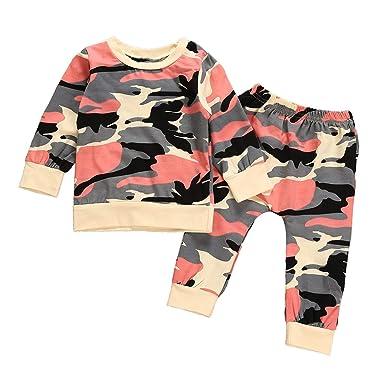 Kleinkind Kinder Baby Jungen Kurzarm T-Shirt Tops Camo Jogginghose Outfit Set DE