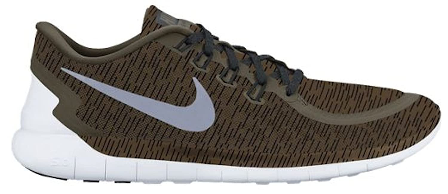 best sneakers 93013 a6ee7 Amazon.com   NIKE Mens Free 5.0 Print Running Shoes (Cargo Khaki) Sz. 9.5    Shoes