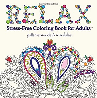 relax adult coloring book stress free coloring books for adults - Free Coloring Books For Adults