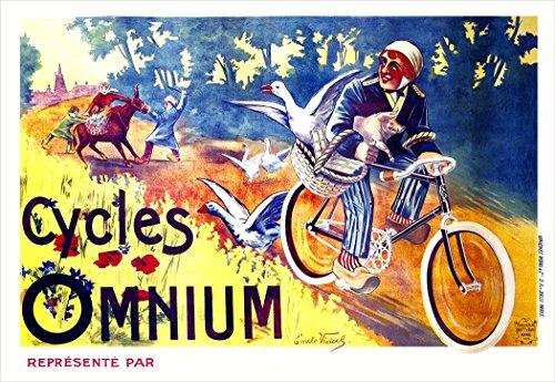 Cycles Omnium Fine Art Vintage Bicycle Poster Print