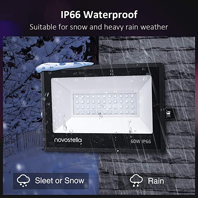 20 Colors 6 Modes IP66 Waterproof Outdoor Garden Stage Landscape Lighting Novostella 100W RGB LED Flood Light Dimmable Color Changing Floodlight Wall Washer Lights 44 Keys Controller