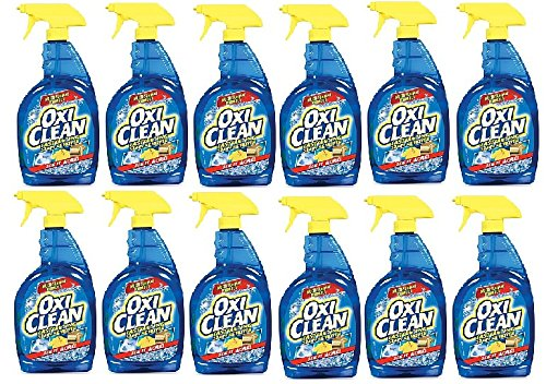 OxiClean Laundry Stain Remover 32-Ounce Spray Bottle (32-Ounce | Pack of 12) by OxiClean