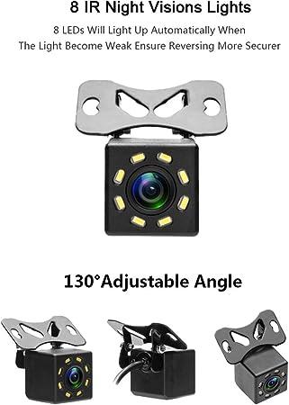 24V Rear View Camera 18 led Night Vision Waterproof Reversing Camera Backup Cameras for Truck//Trailer//Van//Camper Camecho Vehicle DC 12V
