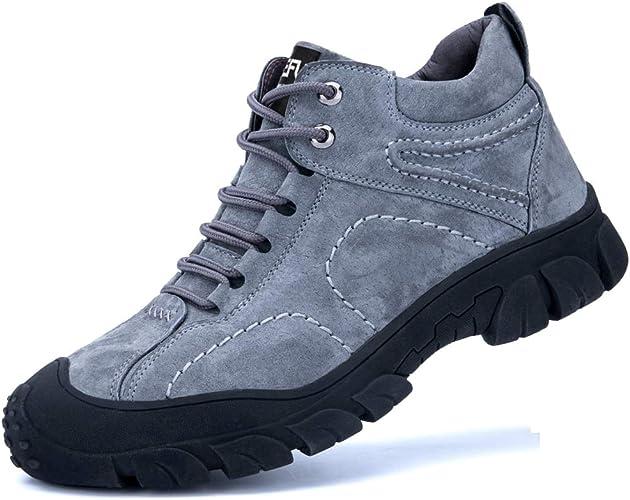 Botas de Seguridad para Hombre con Puntera de Acero, Botas de Trabajo, Zapatos de Seguridad, Zapatillas de Trabajo antigolpes, Perforaciones, cálidas y Antideslizantes, Color, Talla 36 2/3 EU: Amazon.es: Zapatos y complementos