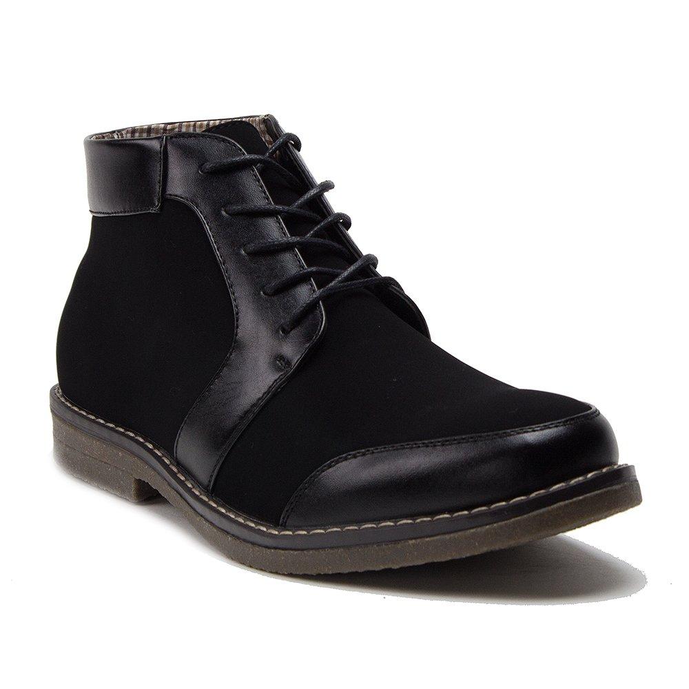 J'aime Aldo New Men's 17962 Leather Lined Suedette Lace Up Casual Dress Boots, Black Nuboc, 9