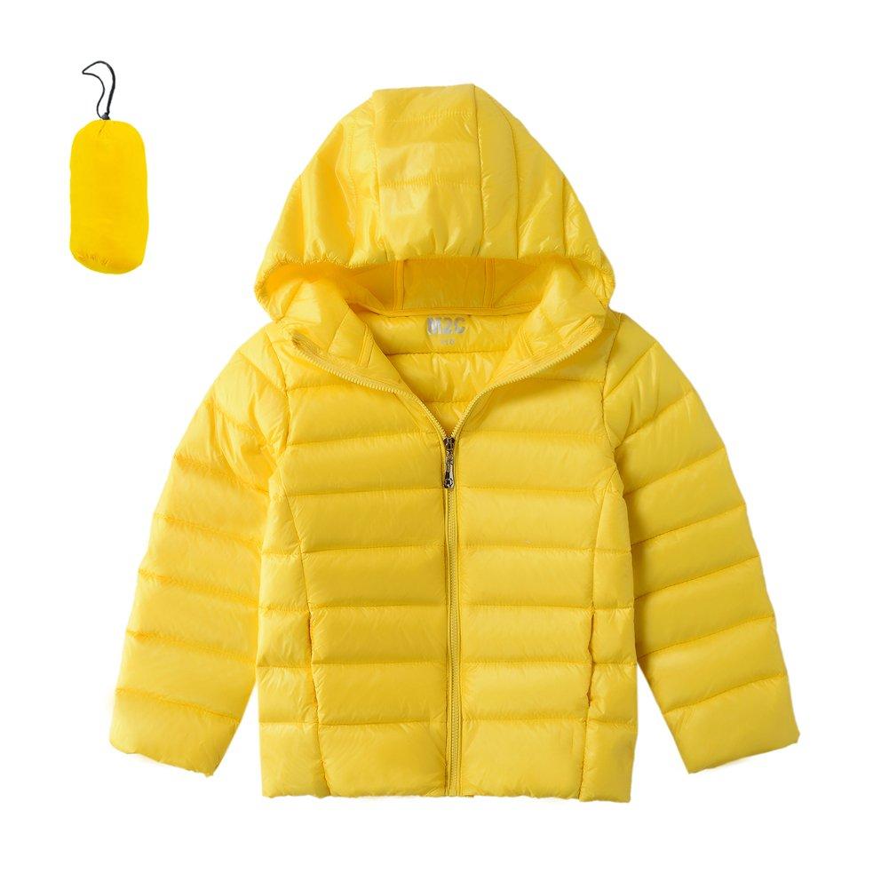 M2C Boys Girls Front Zip Packable Hooded Down Puffer Vest