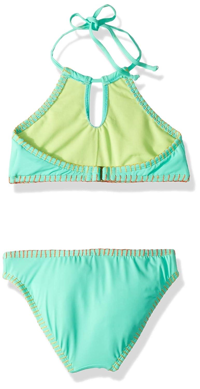 Hobie Big Girls High Neck Bikini Top and Hipster Bottom Swimsuit Set