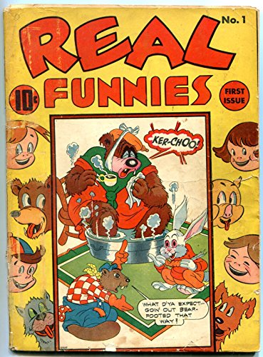 (Real Funnies #1 1942-Nedor Funny Animal comic- Golden Age Black Terrier)