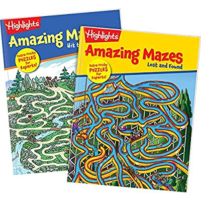 Highlights Amazing Mazes 2-Book Set for Kids - Expert: Highlights for Children: Toys & Games
