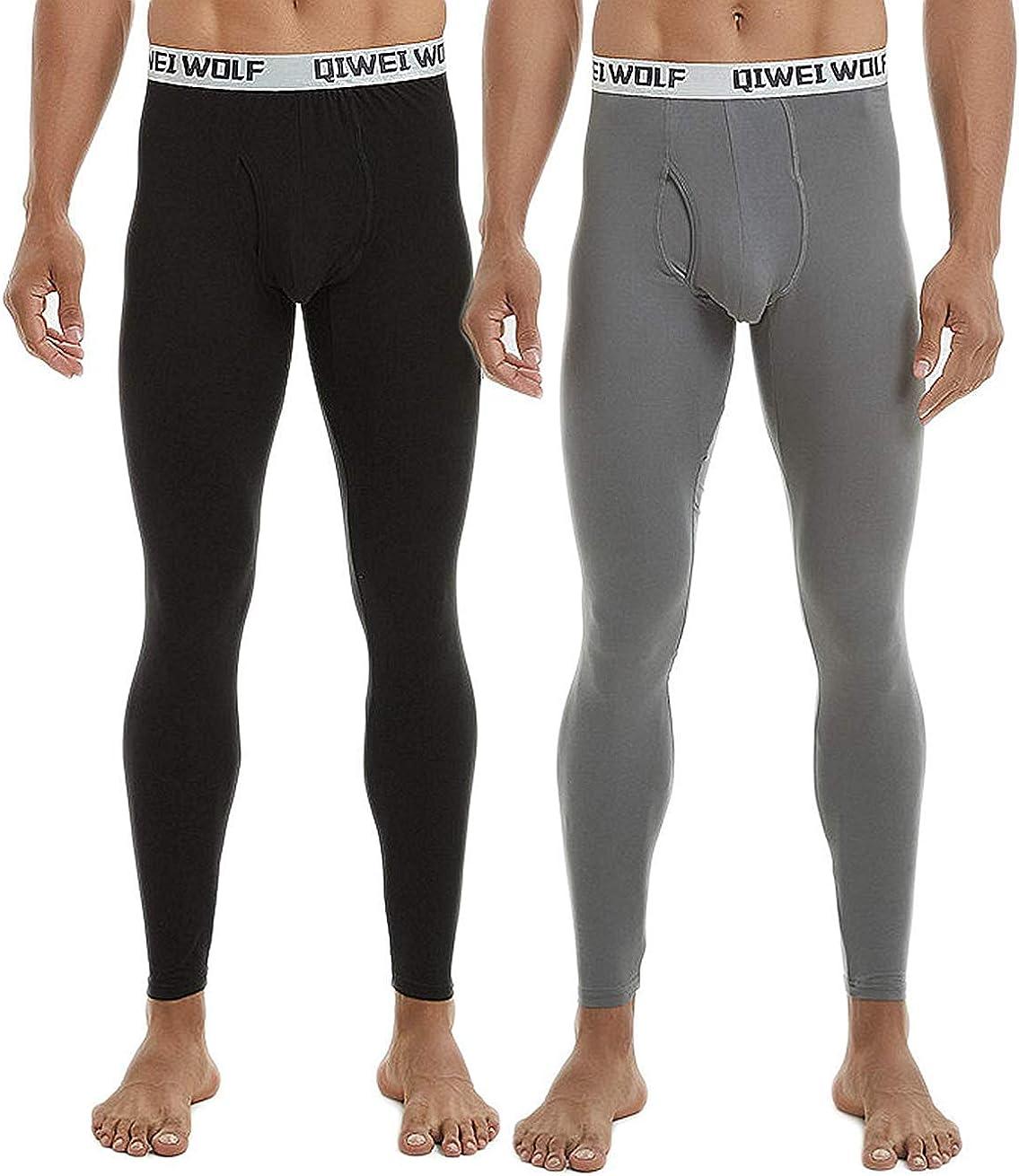CLOUSPO sous-v/êtements Thermiques Homme Long Johns Pantalon Bas Thermique