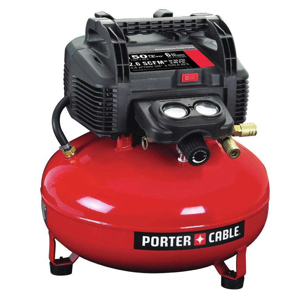 Amazon.com: Air Compressor Pancake 0.8 HP 6 Gallon Oil-Free Tools Valve Tank w/Accessory Kit Sets: Home Improvement