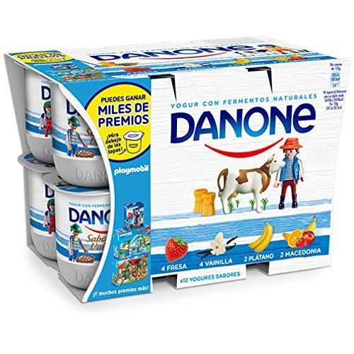 Danone Yogur de Fresa, Macedonia, Plátano y Vainilla - Paquete de 12 x 125 gr - Total: 1500 gr: Amazon.es: Alimentación y bebidas