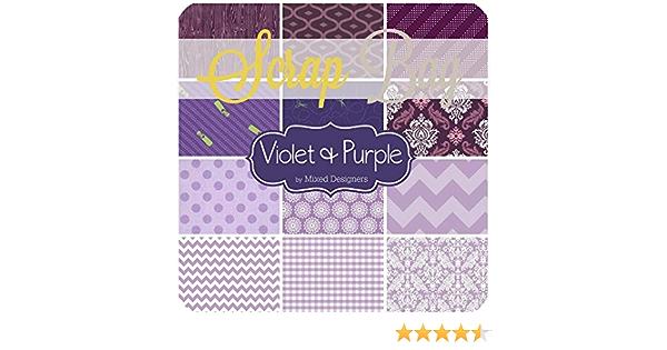 Purple violet scraps 6 12 pieces cotton remnant assortment in cotton purple shades of scrap pieces grab bag