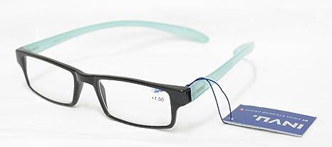 Occhiali Per Lettura Premontati Invu B 6420 L +3.50 Nero Azzurro Collo Reading Glasses wwR603OhO