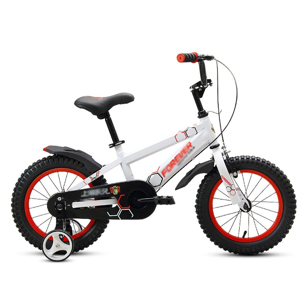 男の子、女の子幼児自転車ベビーカー子供用自転車2-3-4-5-6歳12 14 16 18インチ子供用自転車ベビーペダル自転車白黒黄色 B07DWMC4V6 18 inch|白 白 18 inch