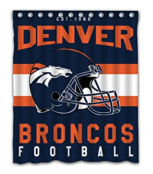 Sonaby Custom Denver Broncos Waterproof Fabric Shower Curtain For Bathroom Decoration 60x72 Inches