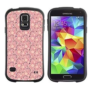 ArtSpace Premium Hybrid Back Case Cover Samsung Galaxy S5 V SM-G900 ( Pink Pattern )