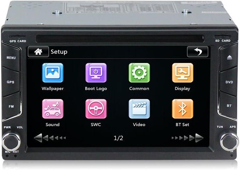Radio 2 Din con navegador GPS, DVD, USB, SD y Bluetooth para coche ...