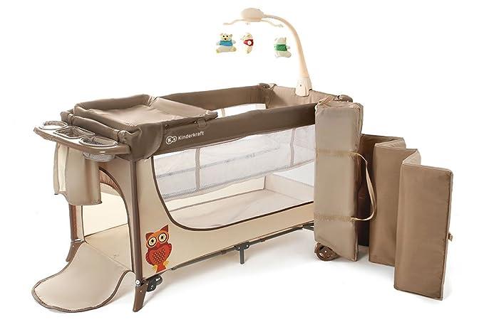 kinderkraft joy travel cot crib folding bed with accessories beige rh amazon co uk