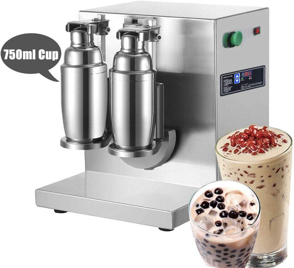 Fayelong Milchtee Shaker Doppelrahmen Milchtee Shaking Maschine Bubble Tea Shaker f/ür Boba Milchtee