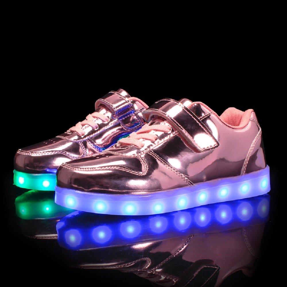 Bangbei Unisex Enfants Gar/çon Fille LED Lumineuse Chaussures Securit/é Mode Dessus 7 Couleurs Clignotants USB Rechargeable Mutilsport Shoes Sneaker