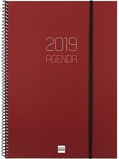 Agenda 2019 semana vista apaisada catalán: Amazon.es ...