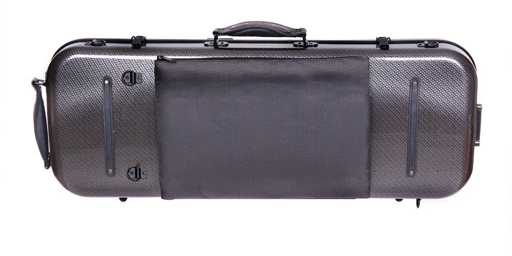 Tonareli Viola Oblong Fiberglass Case Special Edition Checkered VAFO 1003 Adjustable to over 18 inches Includes attachable music bag