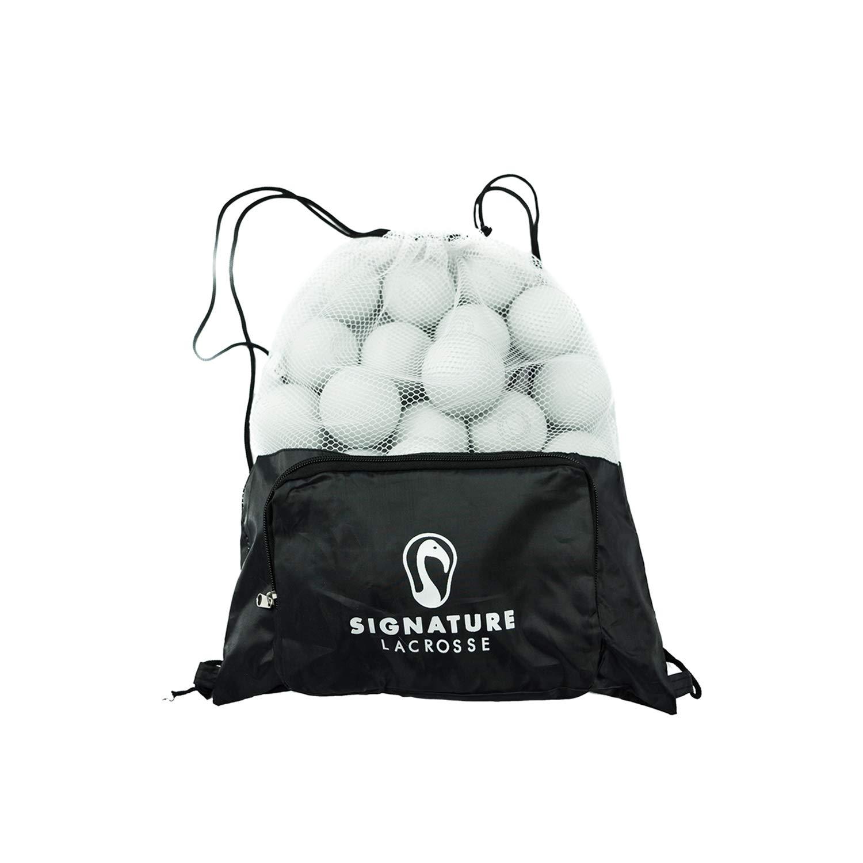 White Shooter Bag of 30 Signature Premium Lacrosse Balls