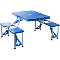 Outsunny Portable Folding Suitcase Table