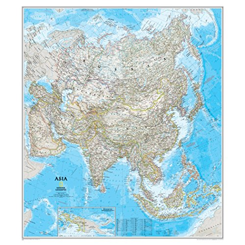 - National Geographic: Asia Classic Wall Map - Laminated (33.25 x 38 inches) (National Geographic Reference Map)