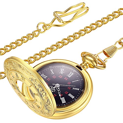 LYMFHCH Vintage Gold Pocket Watch Steel Mens Watch With - Crown Pocket Watch