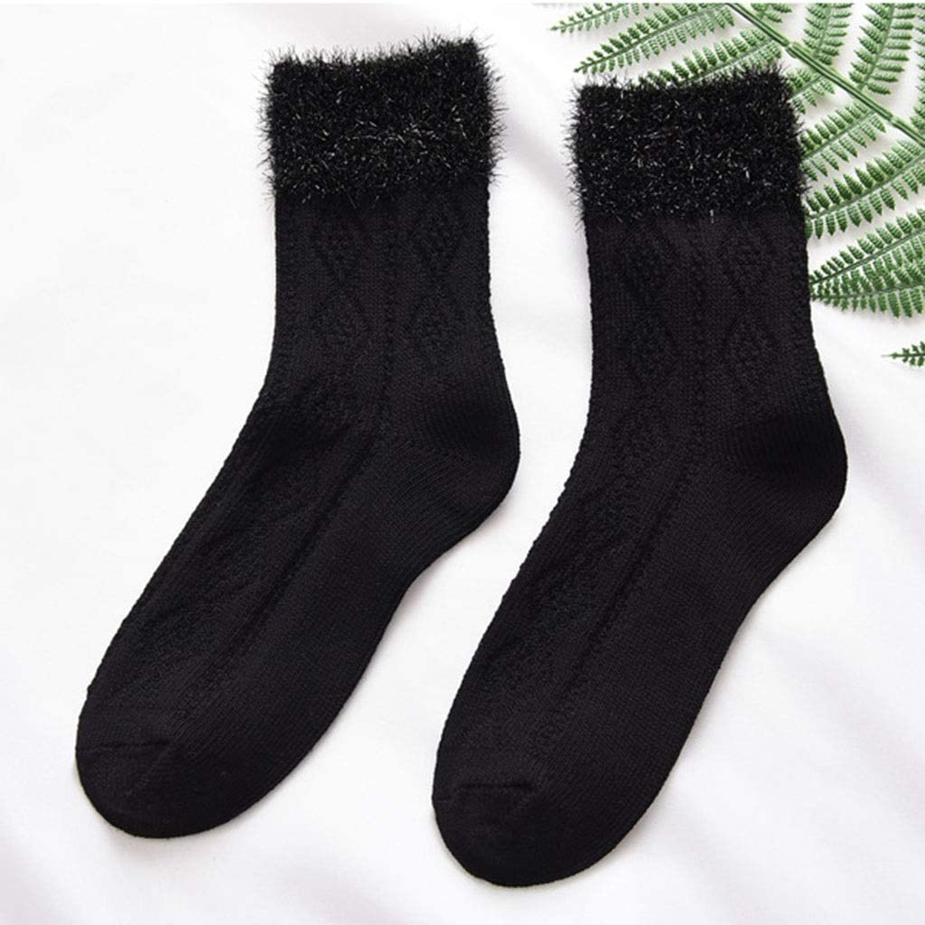 Color : C Sock Ladies Autumn and Winter in The Tube Cotton Fashion Sweet