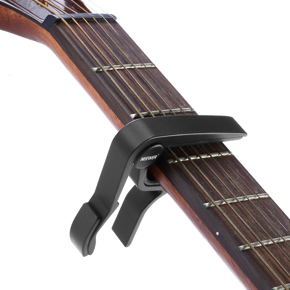 Black Single-handed Guitar Trigger Capo Quick Change
