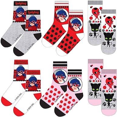 Miraculous Girls Ladybug Socks Pack of 3