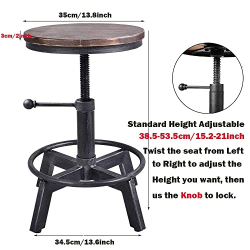 BOKKOLIK Industrial Bar Stool-Counter Height Chair