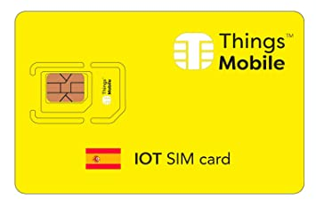 Tarjeta SIM para IOT ESPAÑA - Things Mobile - cobertura global, red multioperador GSM/2G/3G/4G, sin costes fijos, sin vencimiento. 10€ de crédito ...