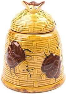 Fox Run Beehive Honey Pot, 3.75 x 3.75 x 4.75 inches, Multicolored