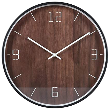 ZHAORLL Reloj de Pared silencioso de Metal Relojes Decorativos Reloj de Pared silencioso Reloj Redondo silencioso