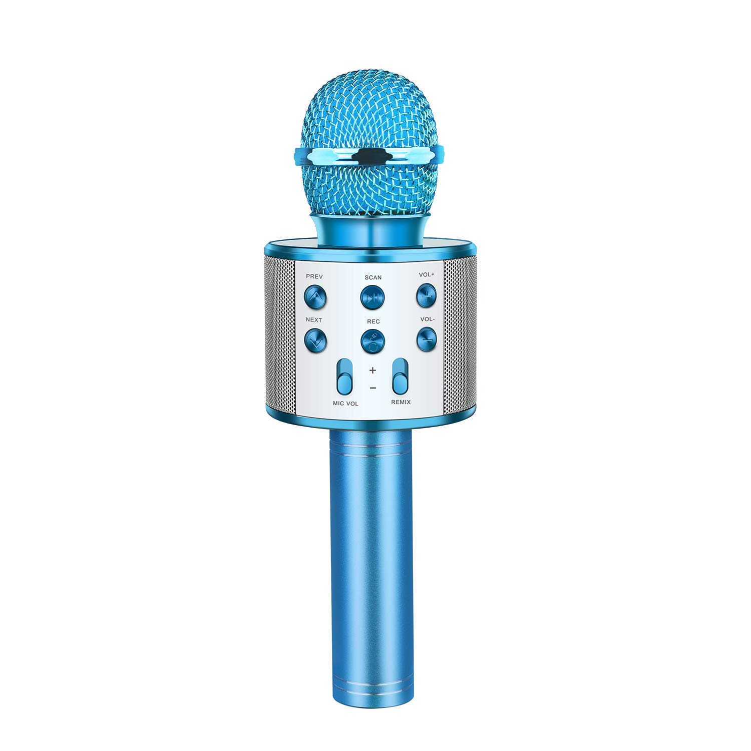 Kids Microphone Wireless Bluetooth, TOP TOY New Toys for 4-15 Year Old Boys Girls Wireless Karaoke Mic Machine Bluetooth for Kids Adults Hot Gifts Singing Games for Kids Teen Boys Girls Blue TTMP04 by ATOPDREAM (Image #1)