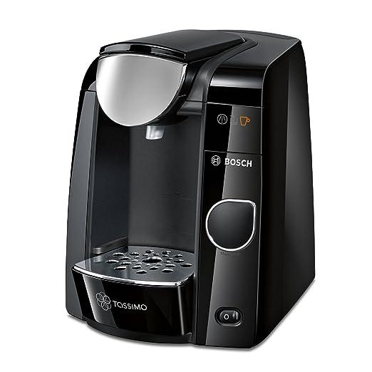 Bosch TAS4502J10 Independiente Totalmente automática Máquina de café en cápsulas 1.4L Negro, Acero inoxidable - Cafetera (Independiente, Máquina de ...