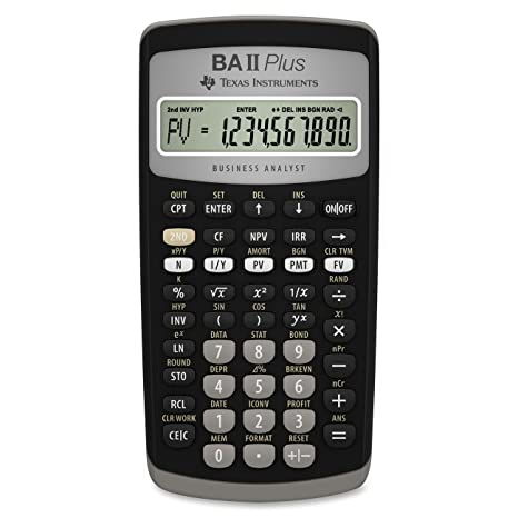 amazon com texas instruments ba ii plus financial calculator