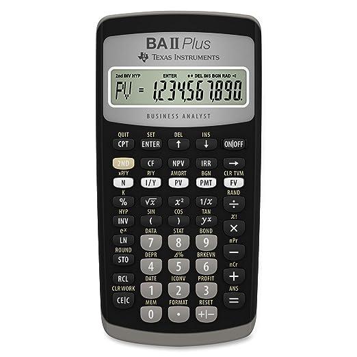 Amazon.com : Texas Instruments BA II Plus Financial Calculator ...