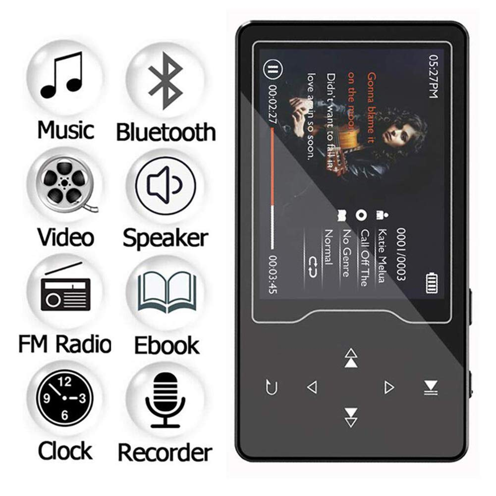 MP3 Player with Bluetooth 4.2, 8GB Portable Lossless Sound Music Player with FM Radio Recorder Touch Button Music Speaker,Support up to 128GB (Gold) by Lovt (Image #4)