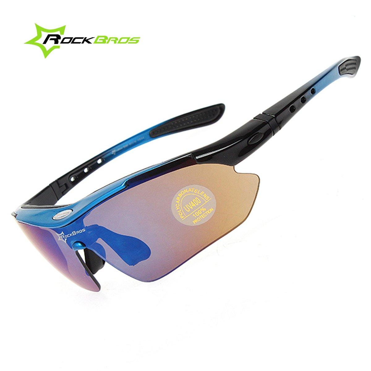 ROCKBROS Sunglasses Polarizada Goggles Gafas de Sol Gafas de Protección Gafas Deportivas Gafas de Ciclismo para Bike Bicicleta Bicycle Cycling CS012: ...