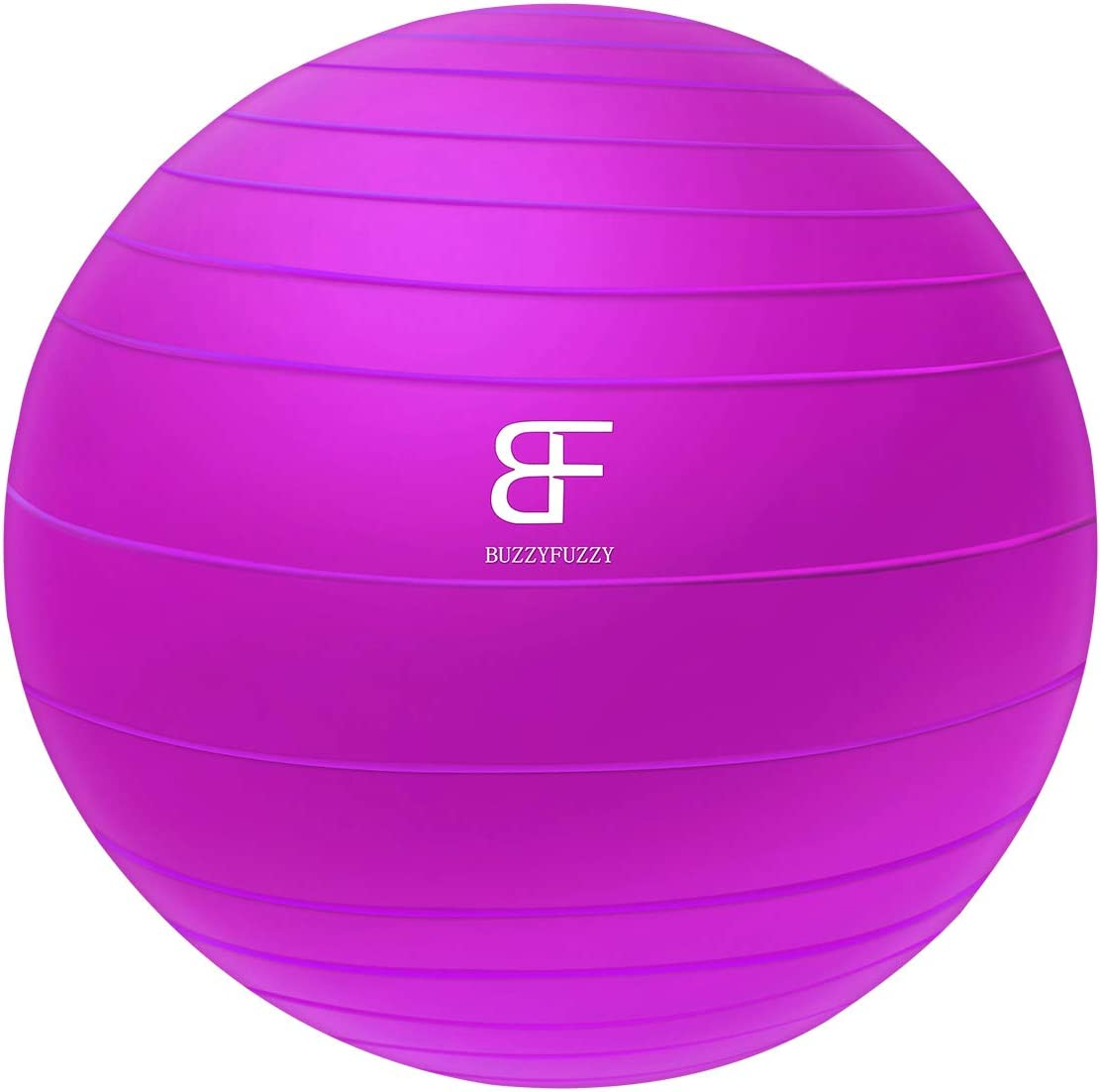 buzzyfuzzy 65 cm Exercise Ball Perfect for Balance/Yoga/Pilates/Strength core Training,Suit for Home Gym/Office Yoga Ball Desk Chair with Quick Pump