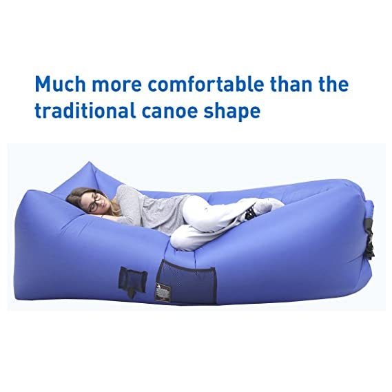 Awe Inspiring Woohoo 2 0 Giant Inflatable Lounger Chair With Carry Bag Andrewgaddart Wooden Chair Designs For Living Room Andrewgaddartcom