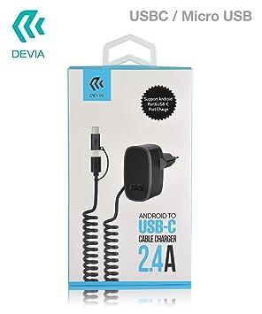 desvía Cargador Micro-USB/USB Tipo C Cargador Puerto USB 2.4 ...
