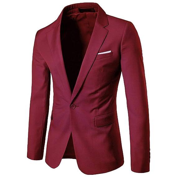 Veste De Costume pour Homme À Un Bouton Vêtements Vestes Manteau Blazer  Costume Vestes Costume De caf5e73580d