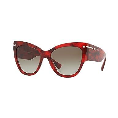 Valentino 0VA4028 50208E 55, Gafas de Sol para Mujer, Rojo ...